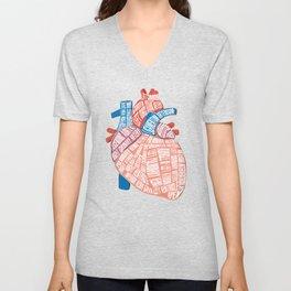 Anatomical Heart - For Cardiac Nurse Cardiologists Unisex V-Neck