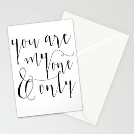 You Are My One And Only Valentines Day Gift Mirror for Her and Him Stationery Cards