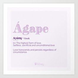 Agape Love Art Print