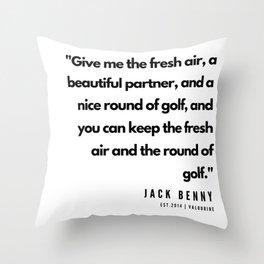 40    | Golf Quotes | 190606 Throw Pillow