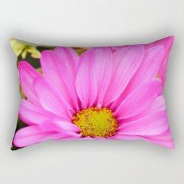 Pink Daisy Petals macro Rectangular Pillow