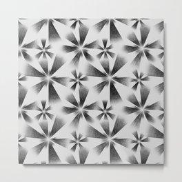 Fragmented White Burst Metal Print