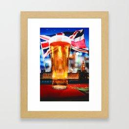 English Beer In A London Pub Framed Art Print