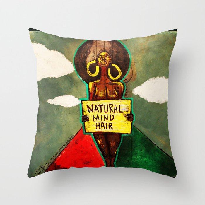 2014 Natural Mind Hair  Throw Pillow