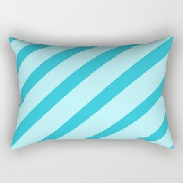 Minty Stripes Rectangular Pillow