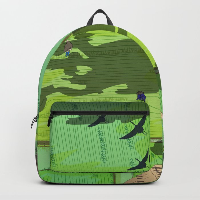 Rice paddy field Backpack