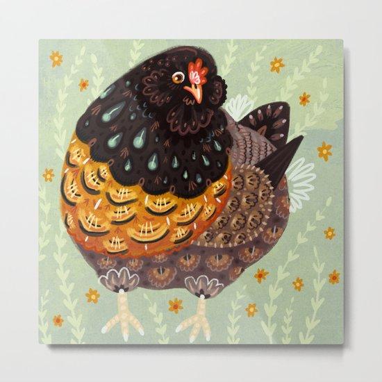 Golden Chicken Metal Print