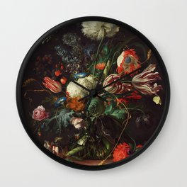 Jan Davidsz de Heem - Vase of Flowers Wall Clock