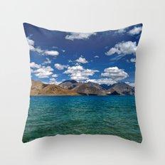Evening Blues...Pangong Lake Throw Pillow