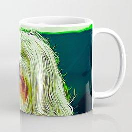hairy havanese dog vector art Coffee Mug