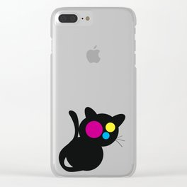 CMJN Cat Clear iPhone Case