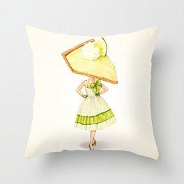 Cake Head Pin-Up: Key Lime Pie Throw Pillow