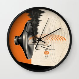 Stereo, the Sound of the Future Wall Clock