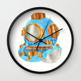 Dive helmet Wall Clock