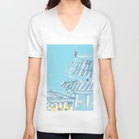 seoul V-neck T-shirts featuring Palace—Changdeokgung, Seoul by spreadtoes