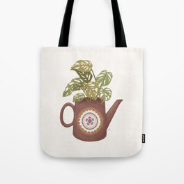 Monstera Teapot Tote Bag