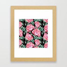 Watercolor Protea Framed Art Print
