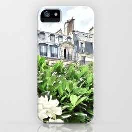 Paris rooftops iPhone Case