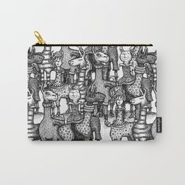 A Crowd of Llamas in Pajamas by dotsofpaint Carry-All Pouch