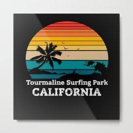 Tourmaline Surfing Park CALIFORNIA Metal Print