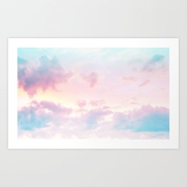 Unicorn Pastel Clouds #2 #decor #art #society6 Art Print