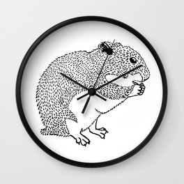 Hungry Hamster Eating A Seed Wall Clock