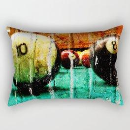 Pool and Billiards Art Rectangular Pillow