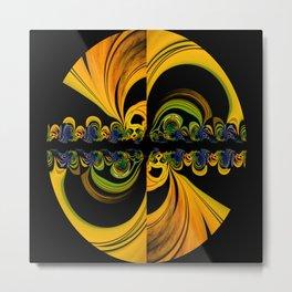 Fractal Vibrations Metal Print