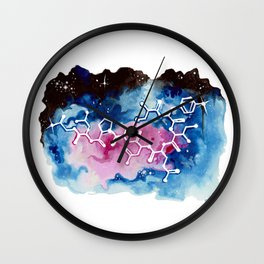 Oxytocin Galaxy. Wall Clock