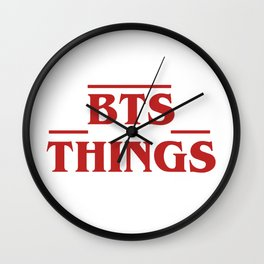 BTS Things Wall Clock