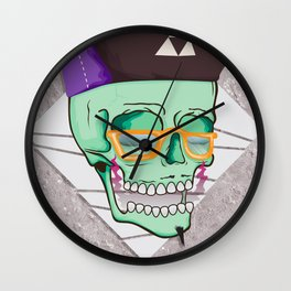 Hell Yeah Skull 3 Wall Clock