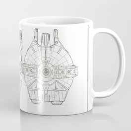 Millennium Falcon Blueprint Coffee Mug