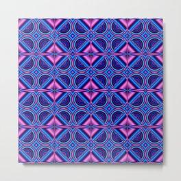 Pattern blue pink Metal Print
