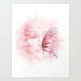 Butterfly's Touch Art Print