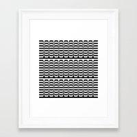 techno Framed Art Prints featuring Techno Zebra by Lyle Hatch