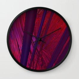 Fibers in Red Wall Clock