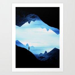 Blue Wasteland Isolation Art Print