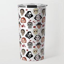 Horror Villains Pattern Travel Mug