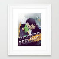guardians of the galaxy Framed Art Prints featuring Guardians of the Galaxy by Fedi