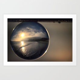 Capturing Avila Beach refraction photography crystal ball Art Print