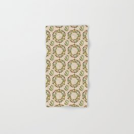Baby it's Cold Outside typography Winter Wreath pattern Hand & Bath Towel