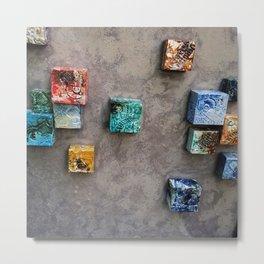 Single Ceramic  Tiles 2 Metal Print