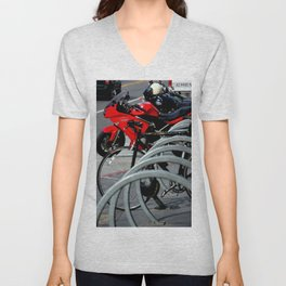 On And Off The Rack Unisex V-Neck