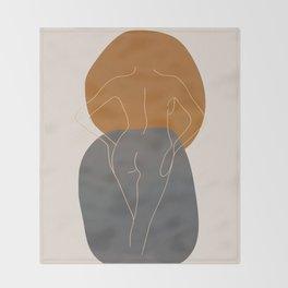 Line Female Figure 82 Throw Blanket
