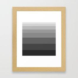 Shade of Grey. Framed Art Print