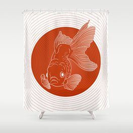The fish expansion Shower Curtain