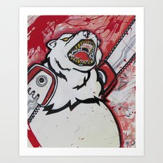 The Right To Bear Chainsaw Arms  Art Print
