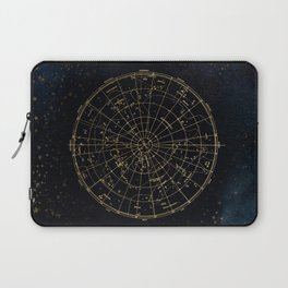 Golden Star Map Laptop Sleeve