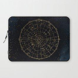 Golden Star Map Laptop Sleeve