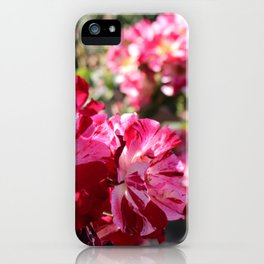 Pink and White Flowers iPhone Case